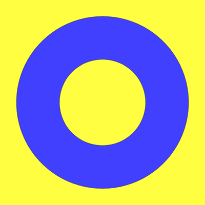 blue yellow white circle - photo #2